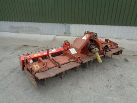 Used Kuhn HR3002D Power Harrow C/w Guttler Press
