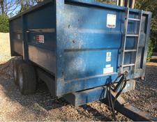 AS Marston 8t trailer c/w tandem axles, lights and brakes