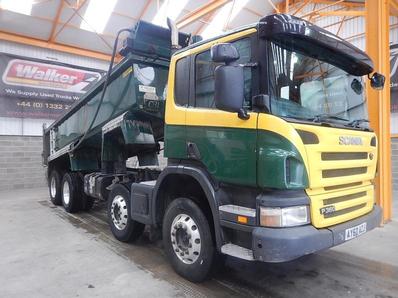 Scania P360 EURO 5, 8 X 4 STEEL MUCKSHIFT TIPPER - 2010 - AY60 AZJ